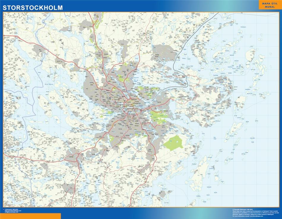 Storstockholm map