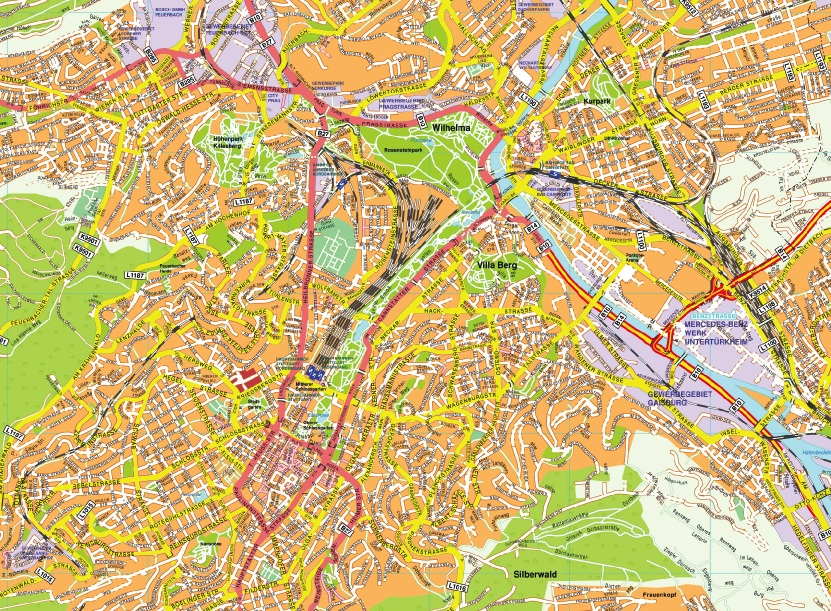 Our Stuttgart Karte Wall Maps Mapmakers offers poster laminated