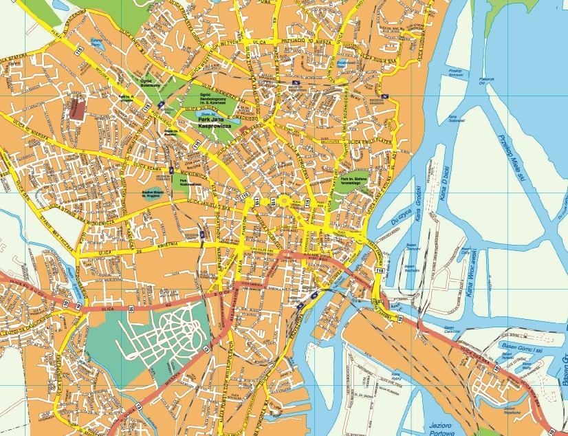 Szczecin map