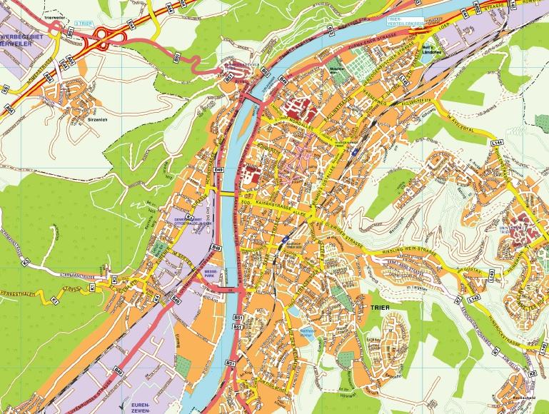 Trier stadtplan