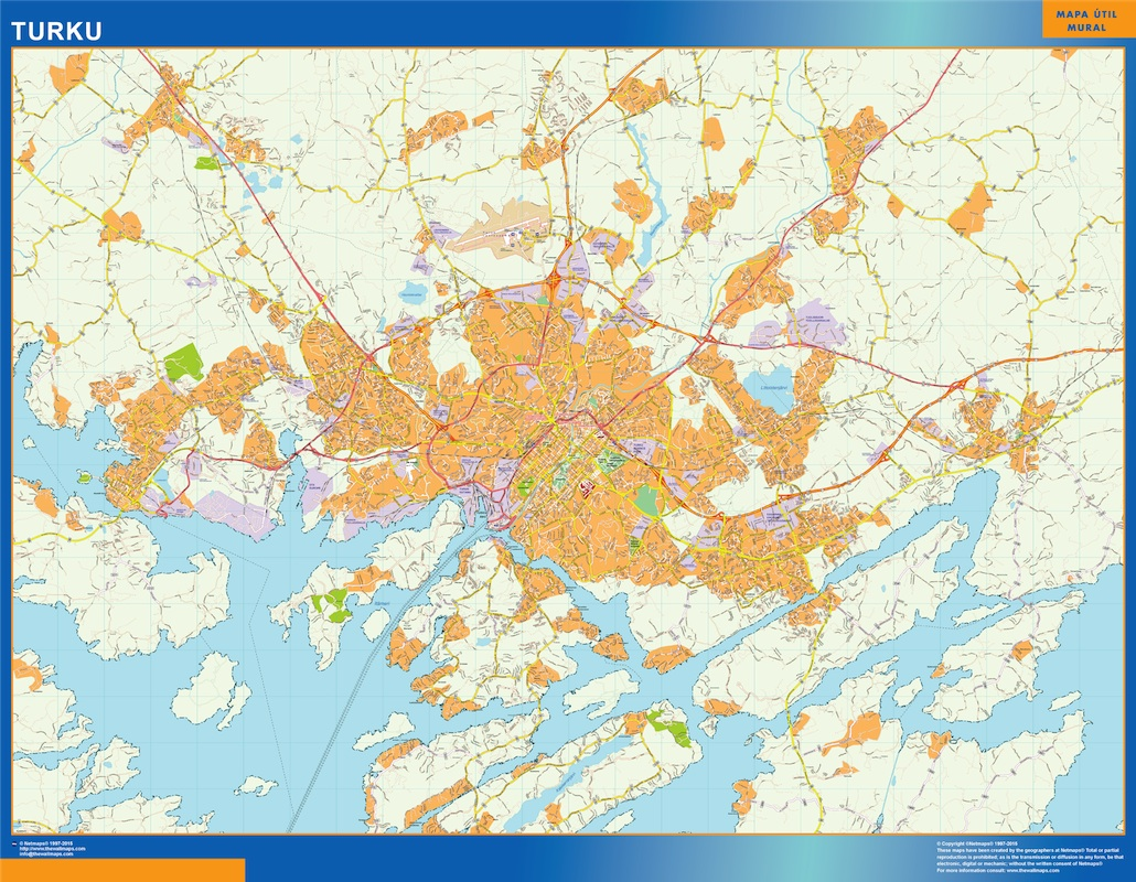 Find And Enjoy Our Turku Kartta Thewallmaps Com