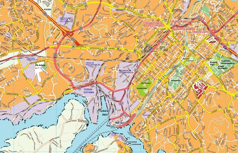 Turku map