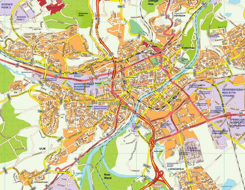 Map Of Germany Ulm.Ulm Karte Find And Enjoy Thewallmaps Com