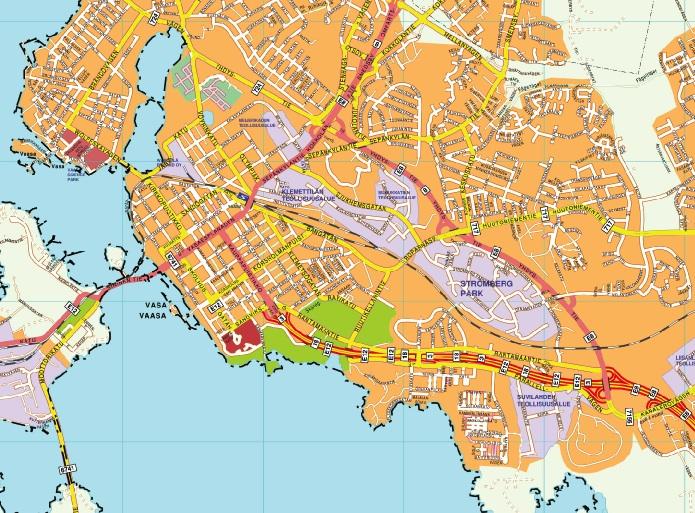 Vaasa map