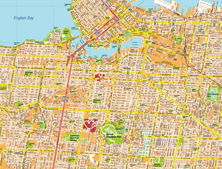 Our vancouver map wall maps mapmakers offers poster laminated choose vancouver map smaller map 92 cm or larger map 110 cm gumiabroncs Choice Image