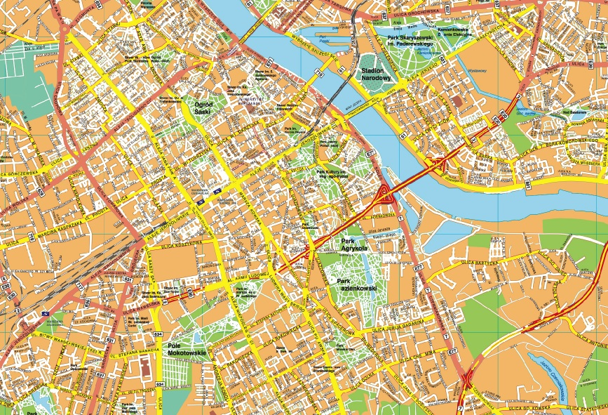 Warszawa map