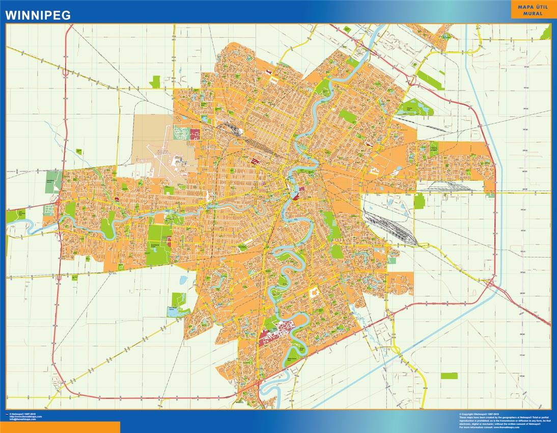 Winnipeg map