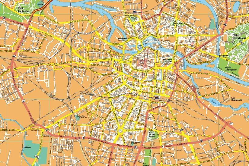 Wroclaw map