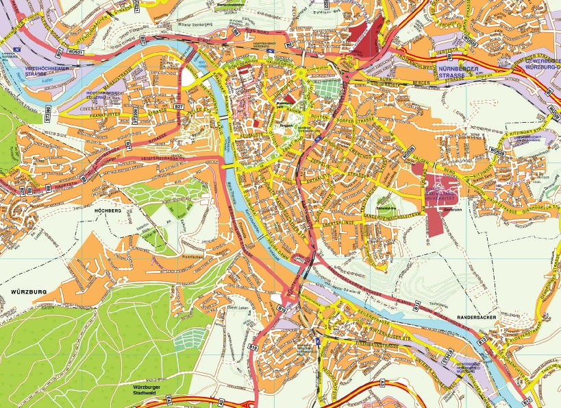 Wurzburg stadtplan