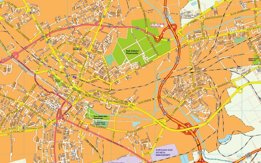 Zabrze map