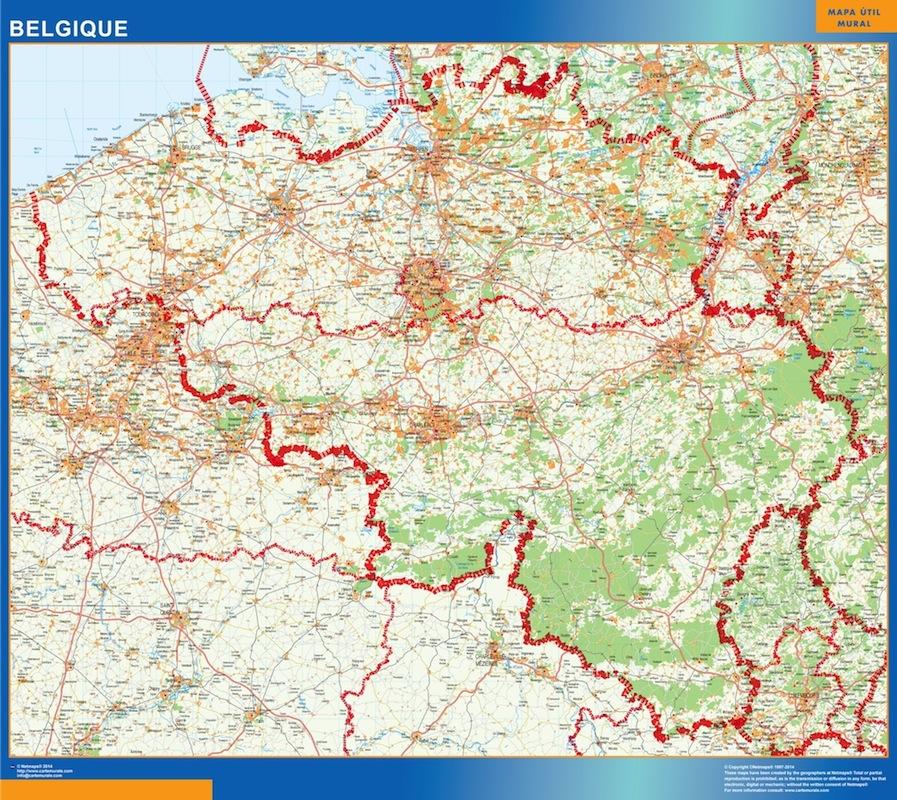 belgium wall maps