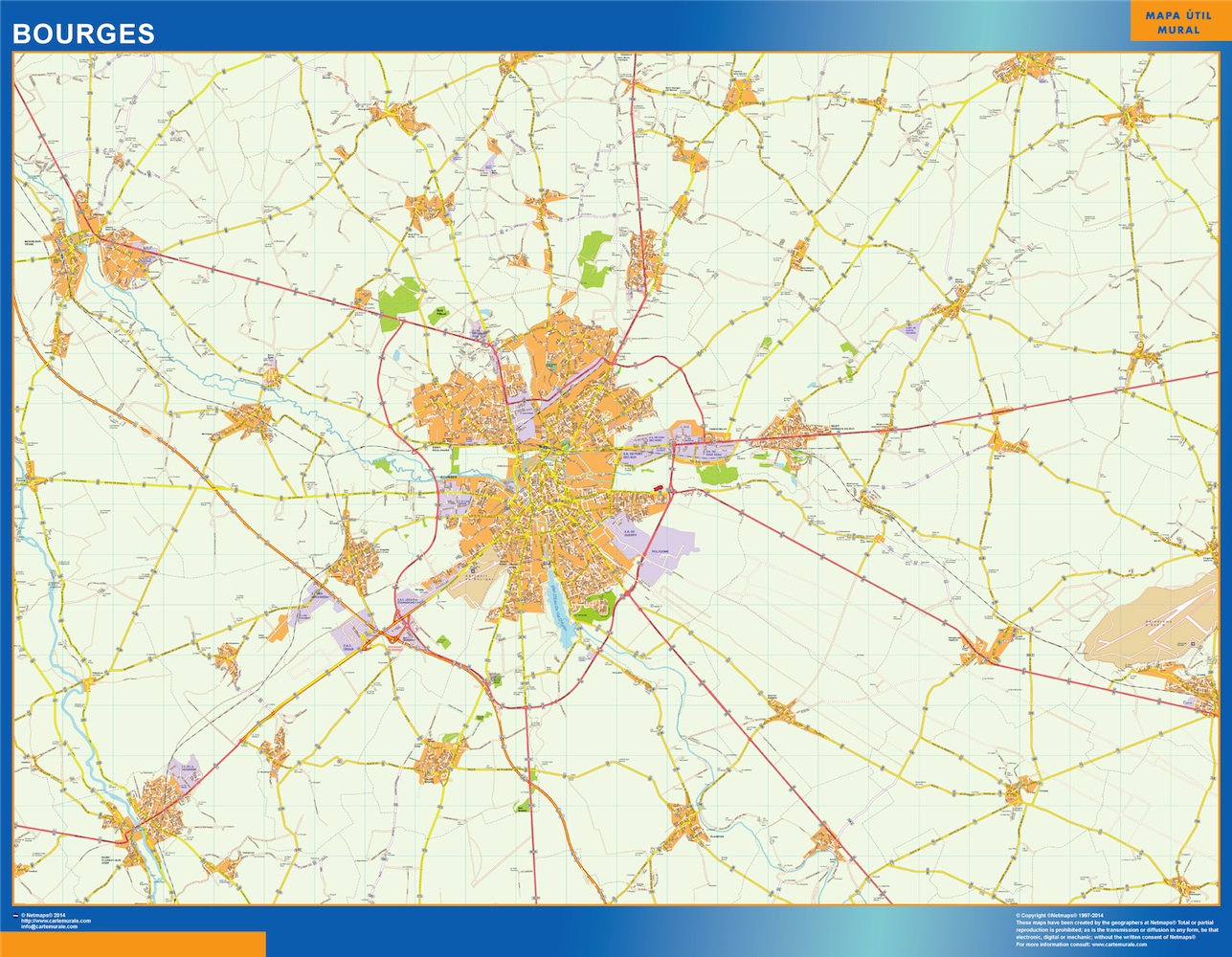 France City Maps The Wall Maps Wall Maps of the World Part 4