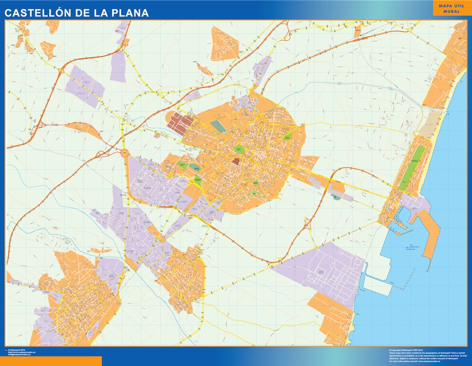 castellon de la plana map