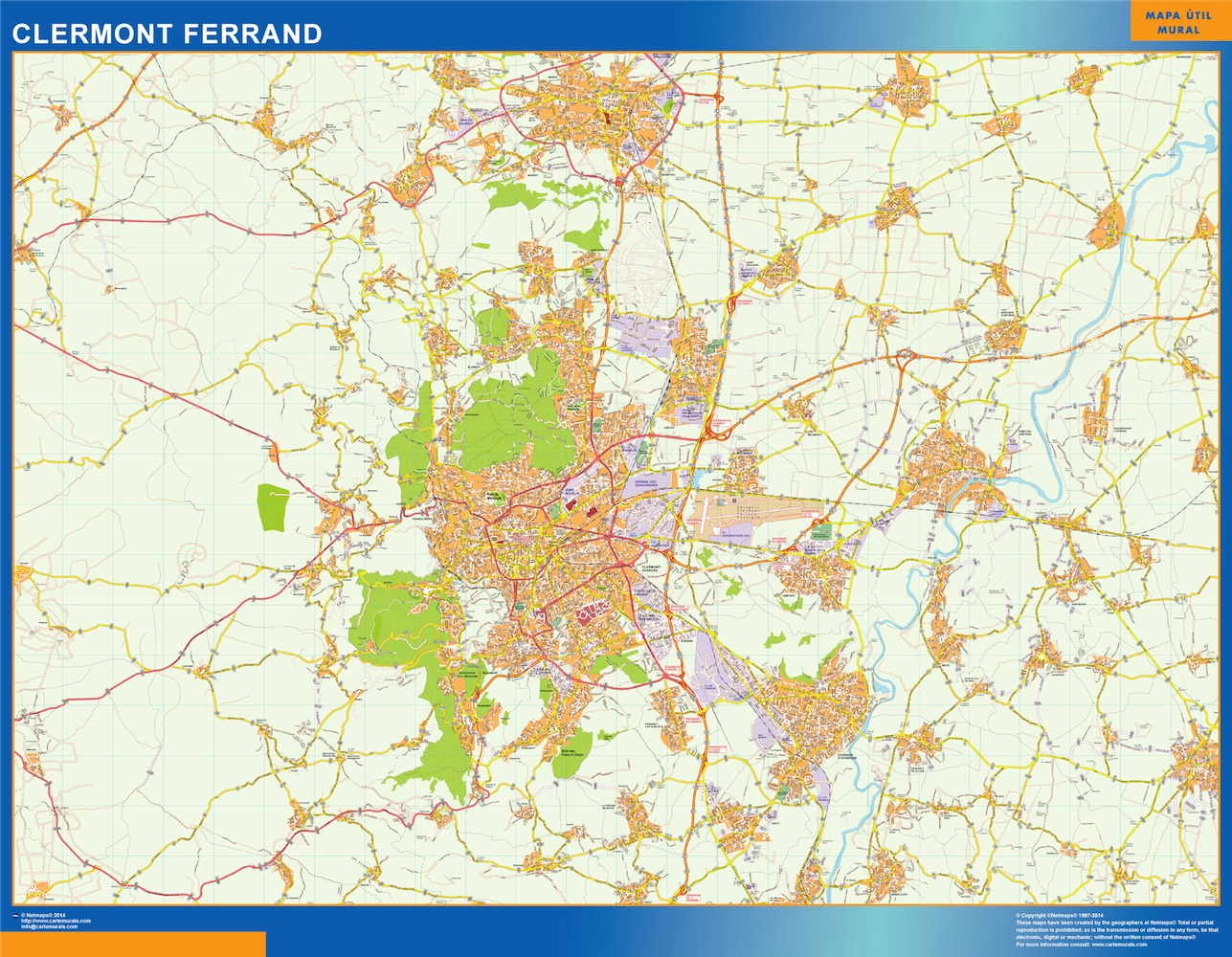 clermont ferrand map