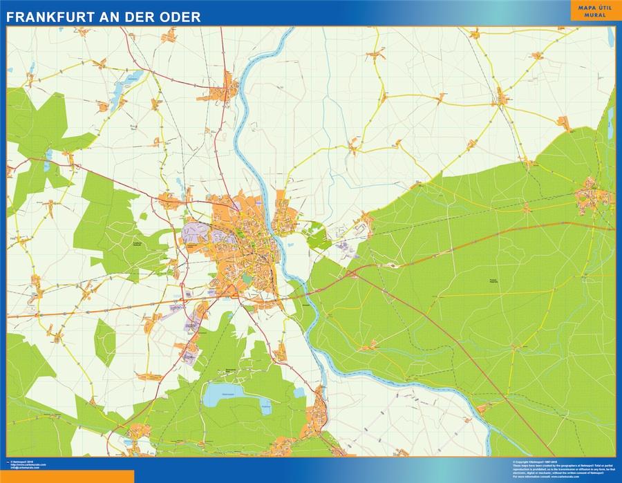 frankfurt an der oder map