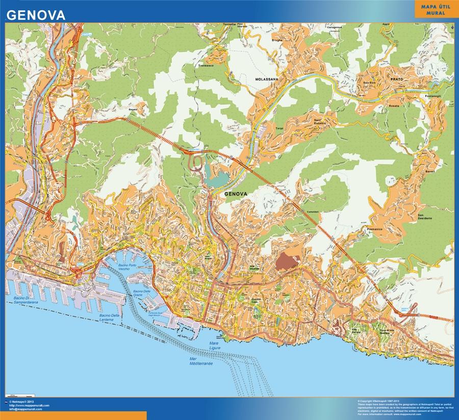 genova map