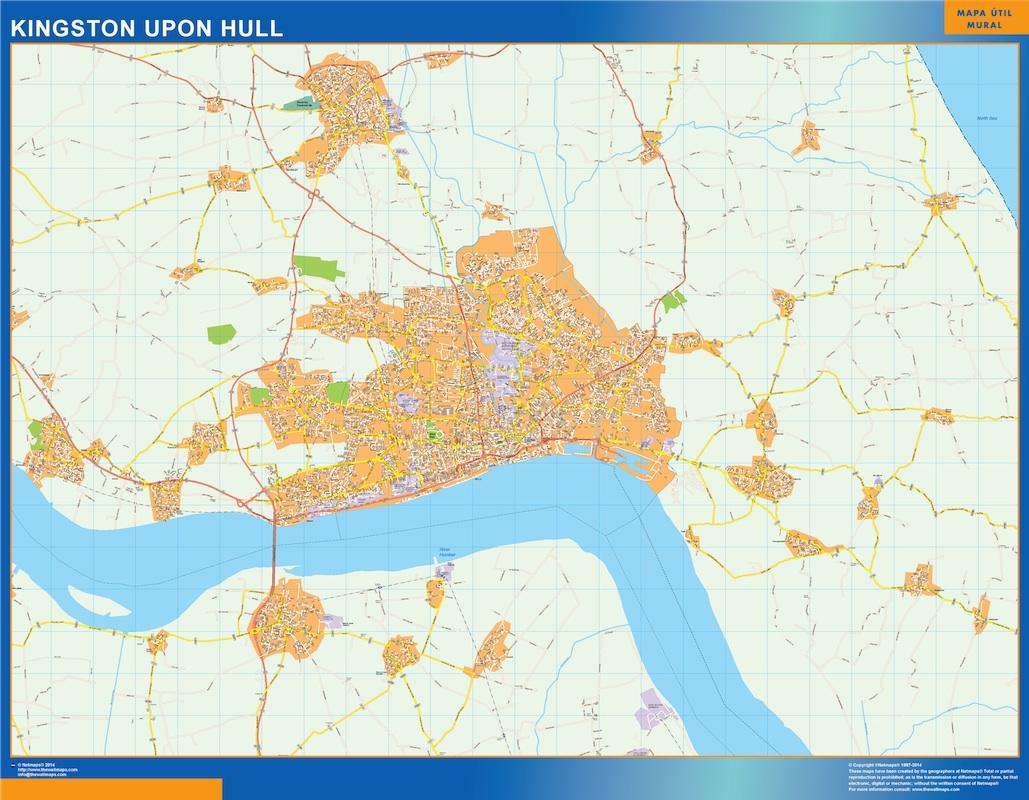 kingston upon hull map