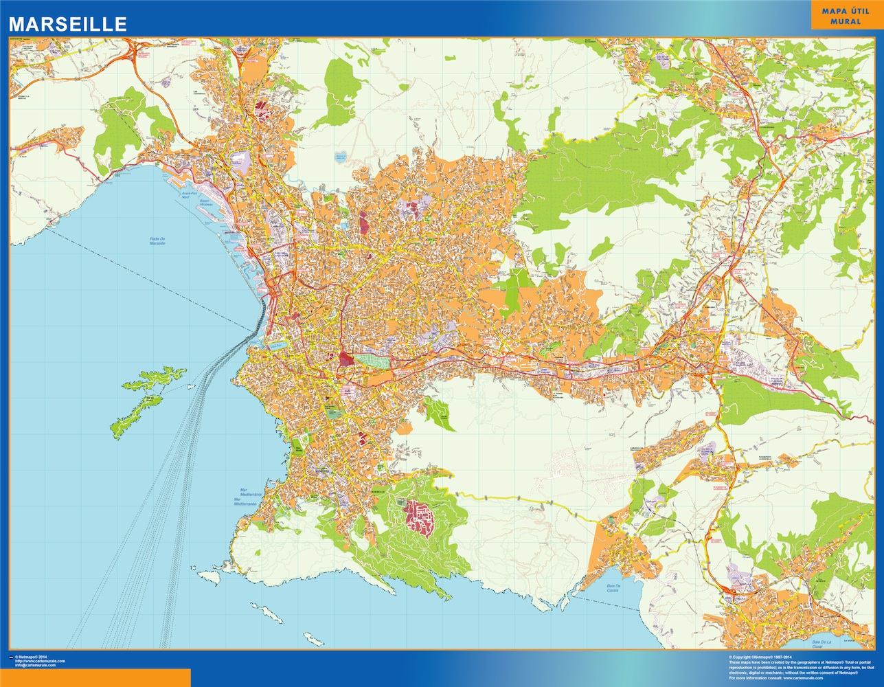 Look Our Special Marseille Map World Wall Maps Store