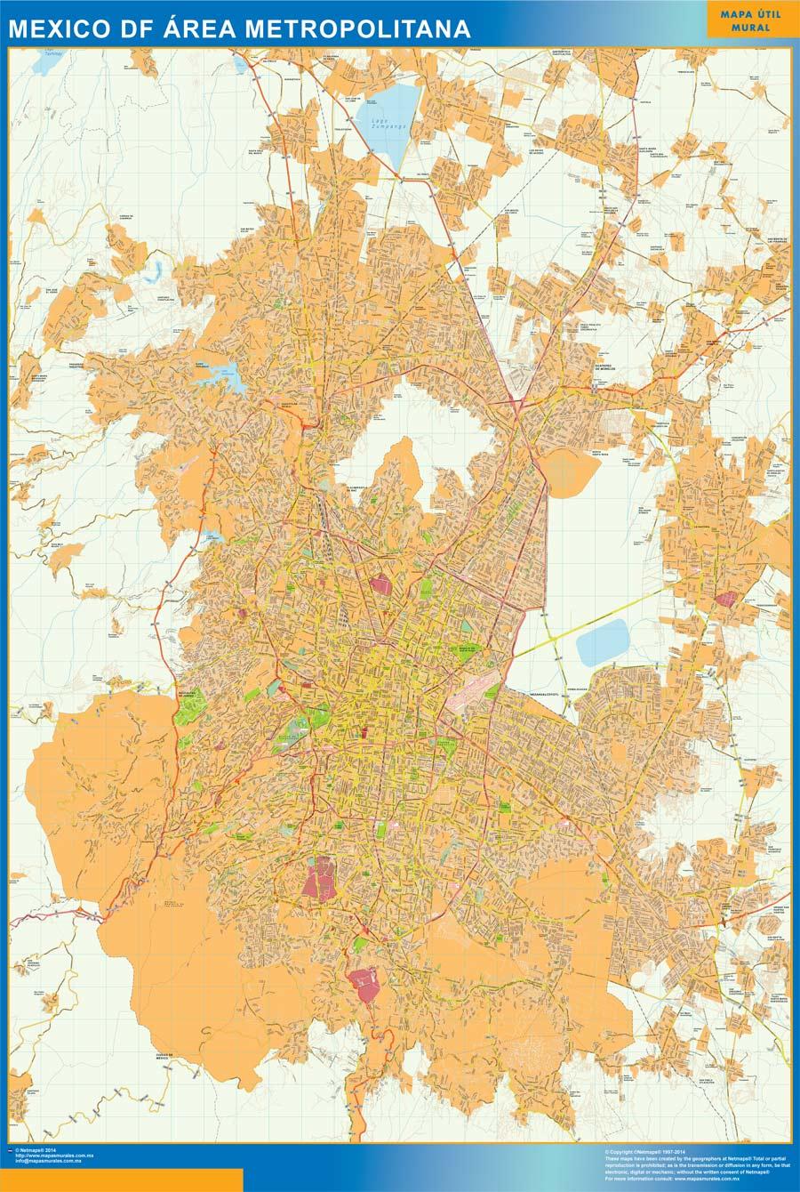 mexico distrito federal map