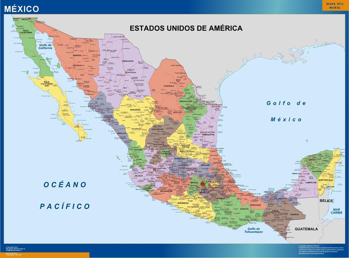 mexico political map