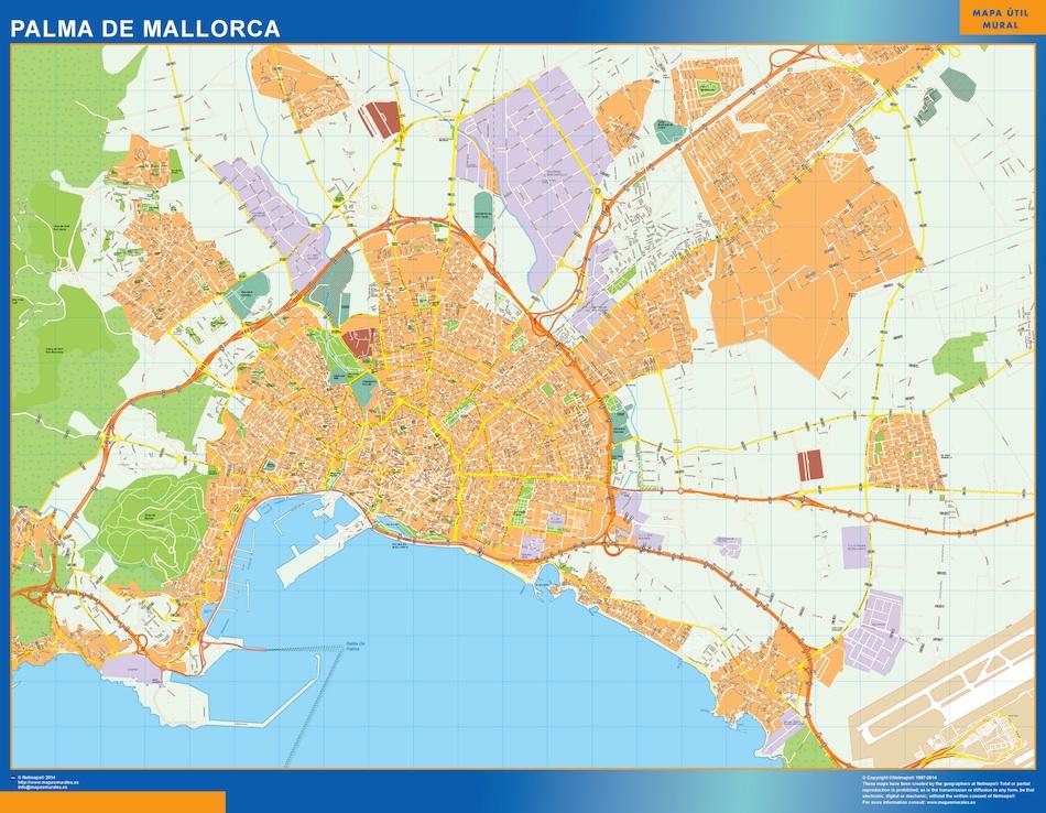 palma mallorca map