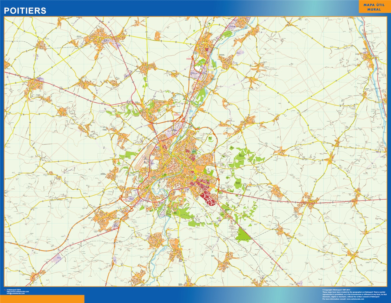 poitiers map