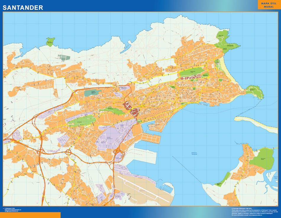 santander map