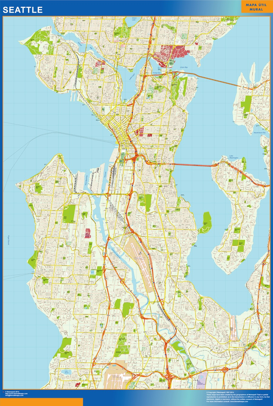 look our special seattle map
