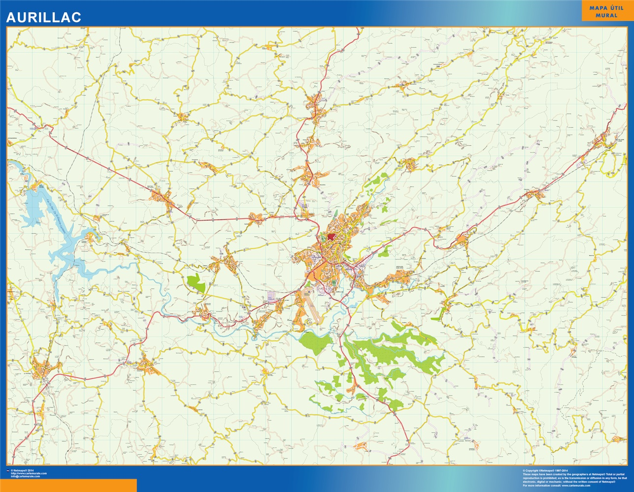 aurillac street map