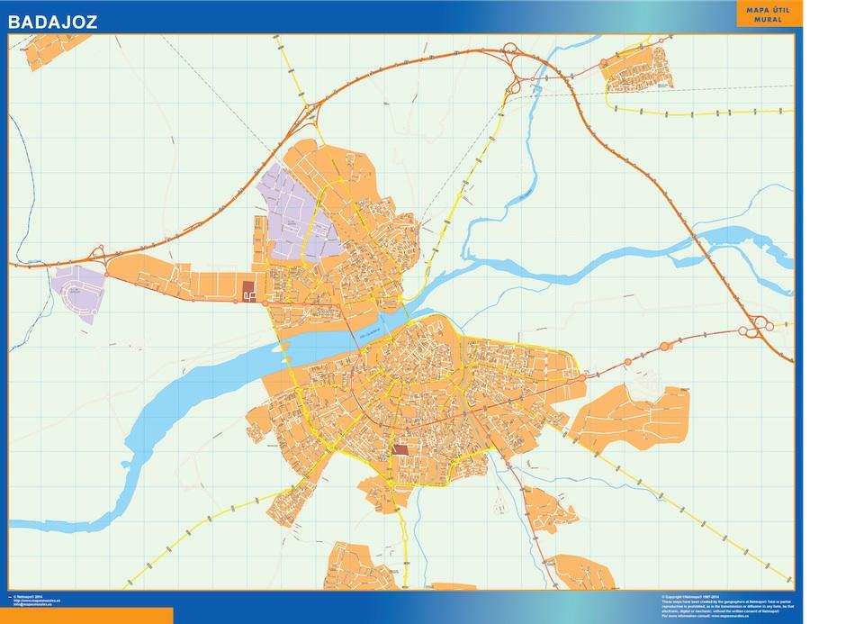 badajoz street map