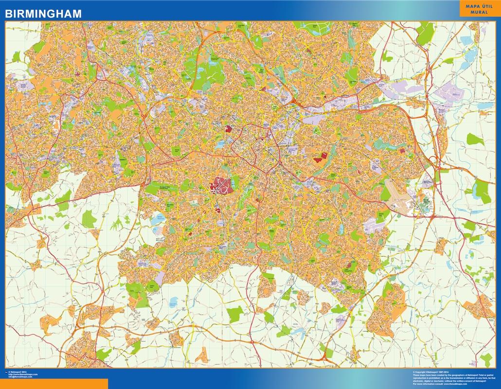 birmingham street map