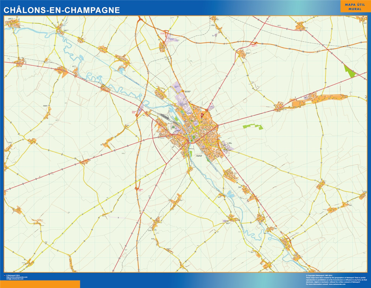 chalons-en-champagne street map
