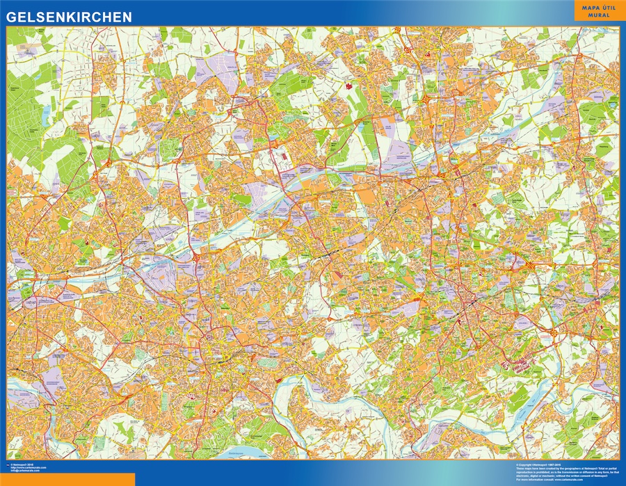 Map Of Germany Gelsenkirchen.Germany Street Maps Wall Maps Of The World Part 3