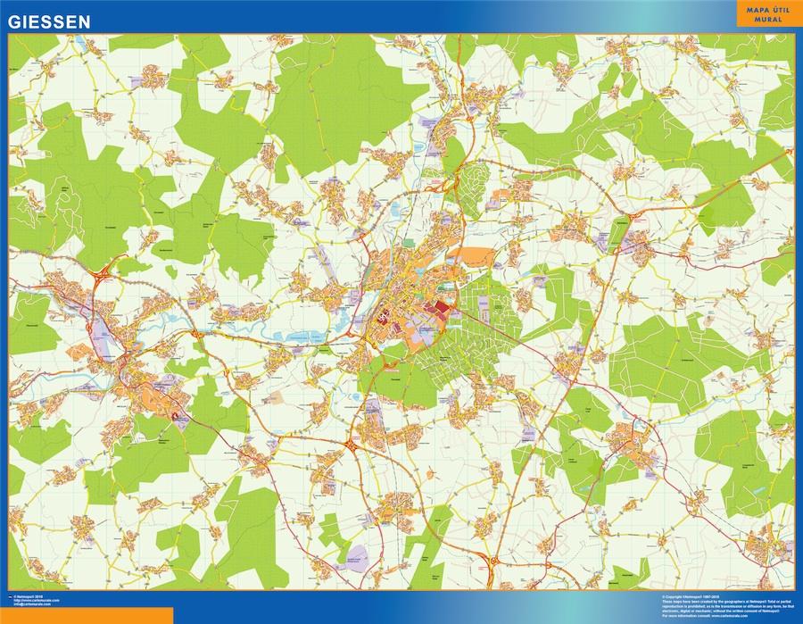 giessen street map