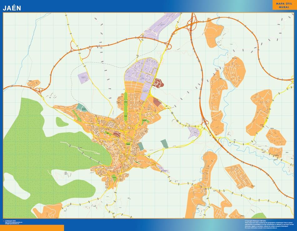 jaen street map