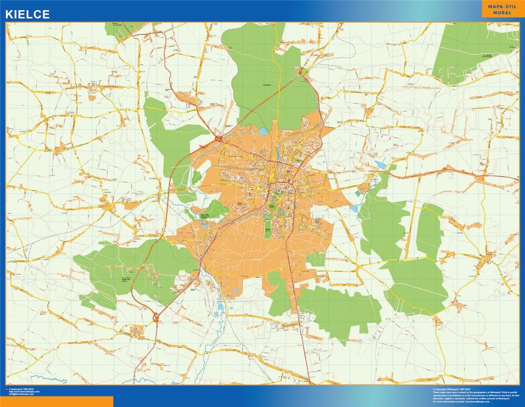 kielce street map
