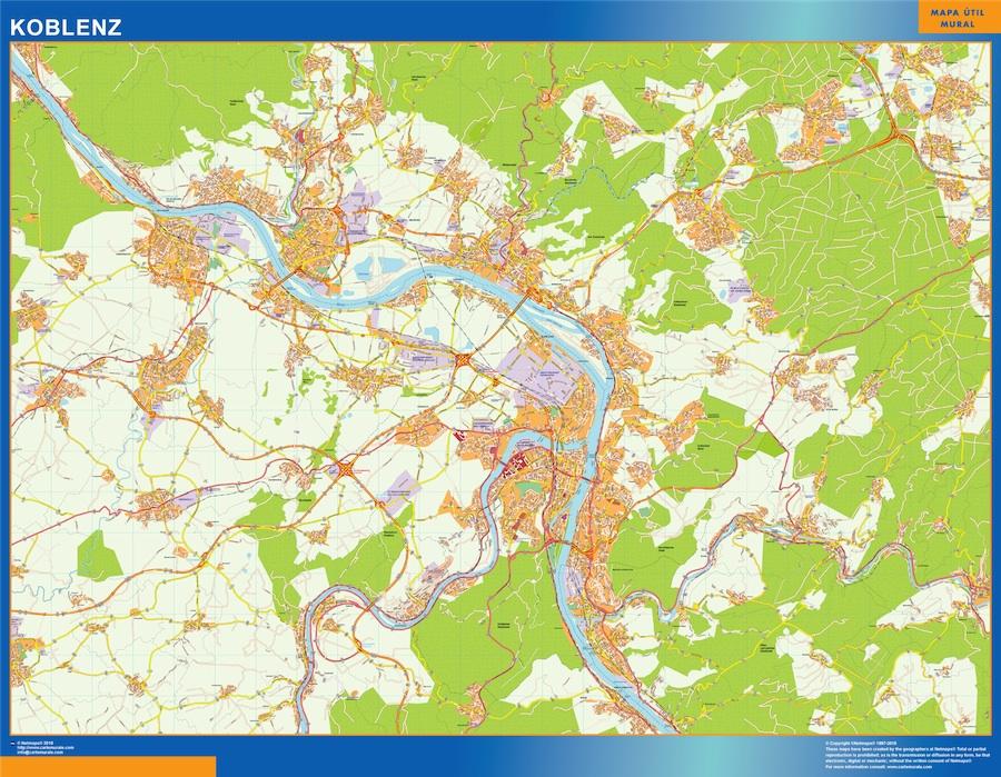 koblenz street map