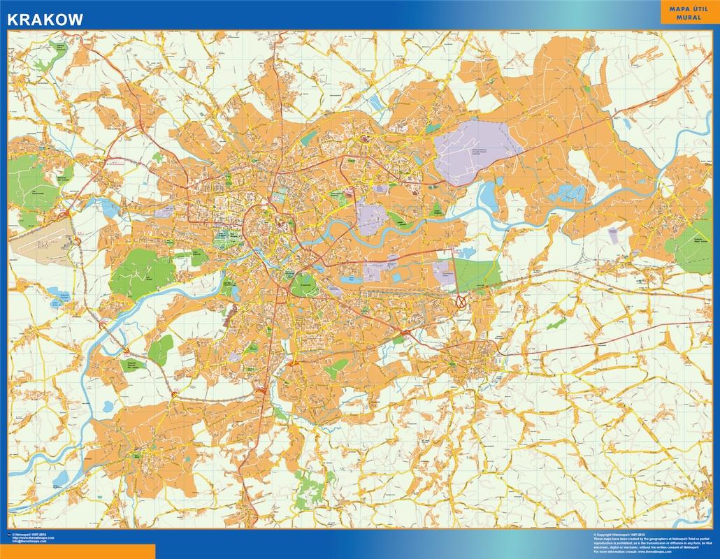 krakow street map