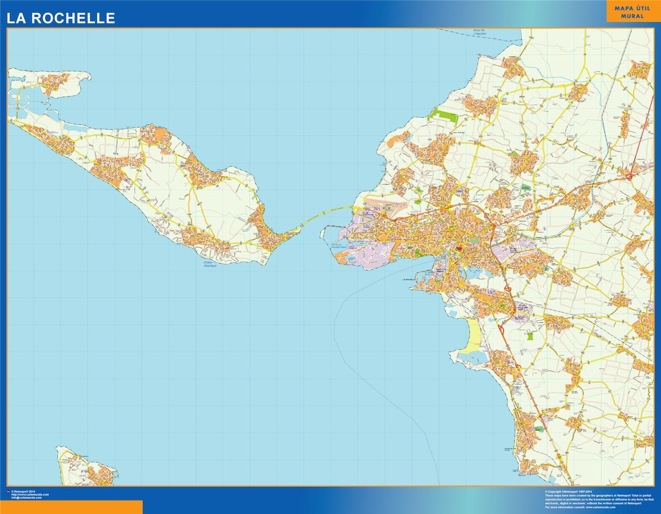 la_rochelle street map