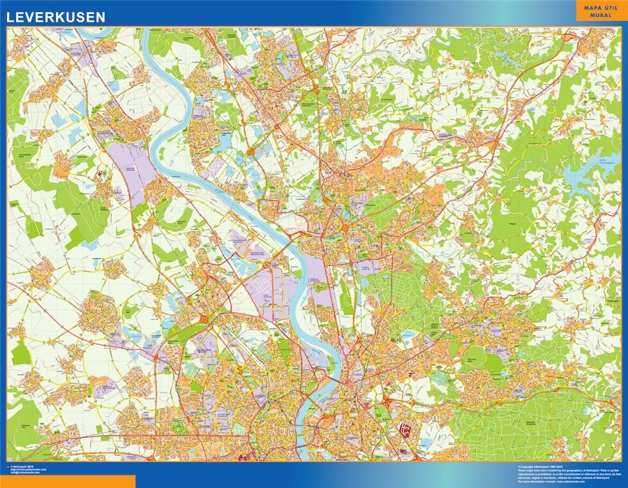 leverkusen street map