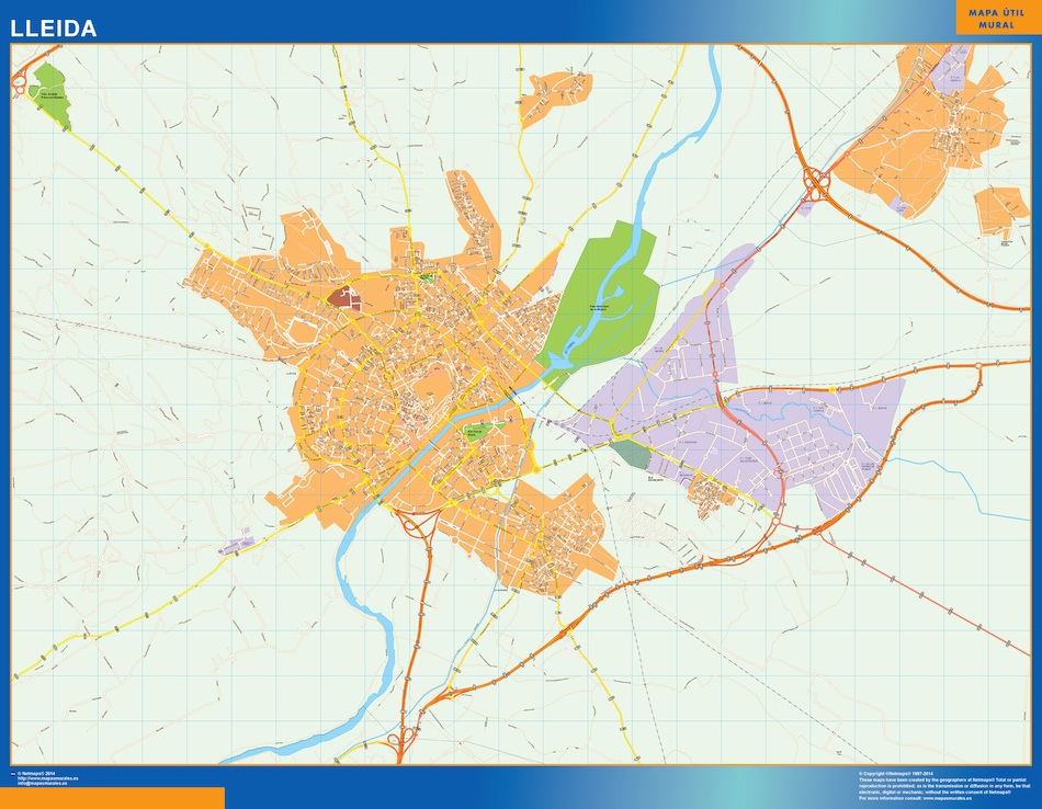 lleida street map