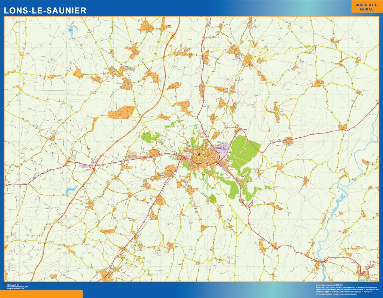 lons-le-saunier street map