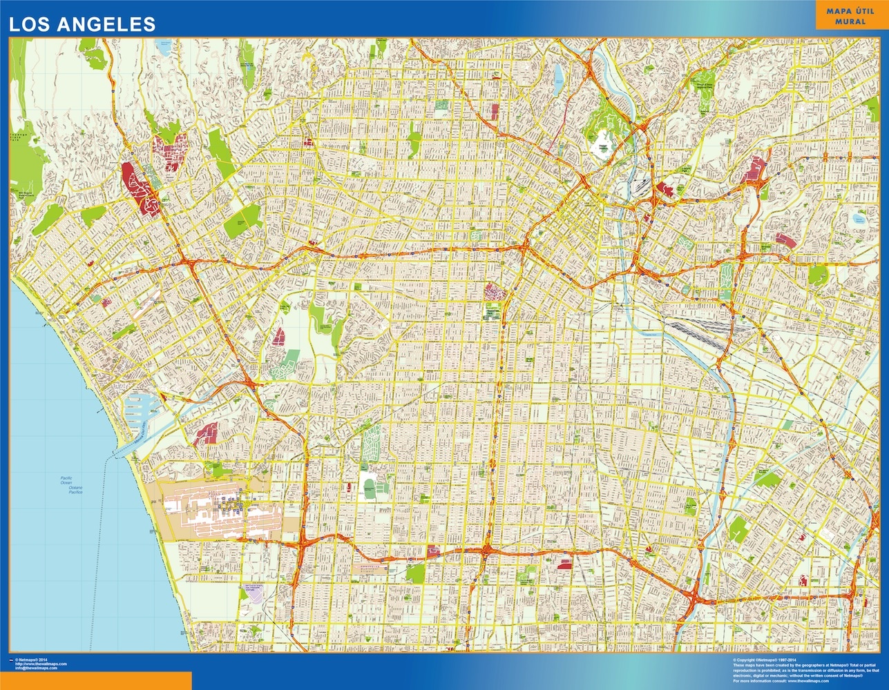 los angeles street map