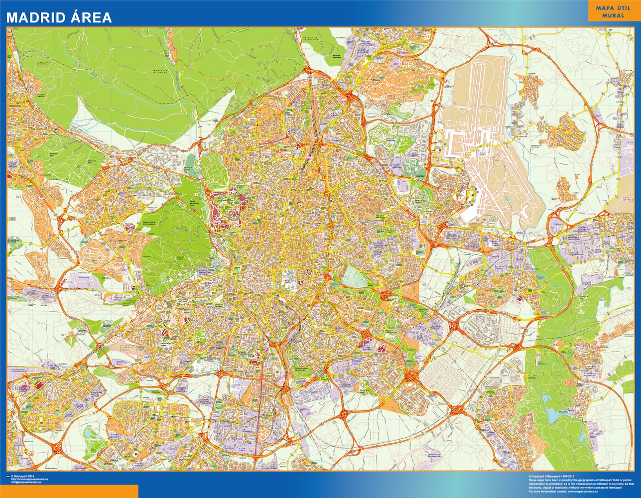 madrid area street map