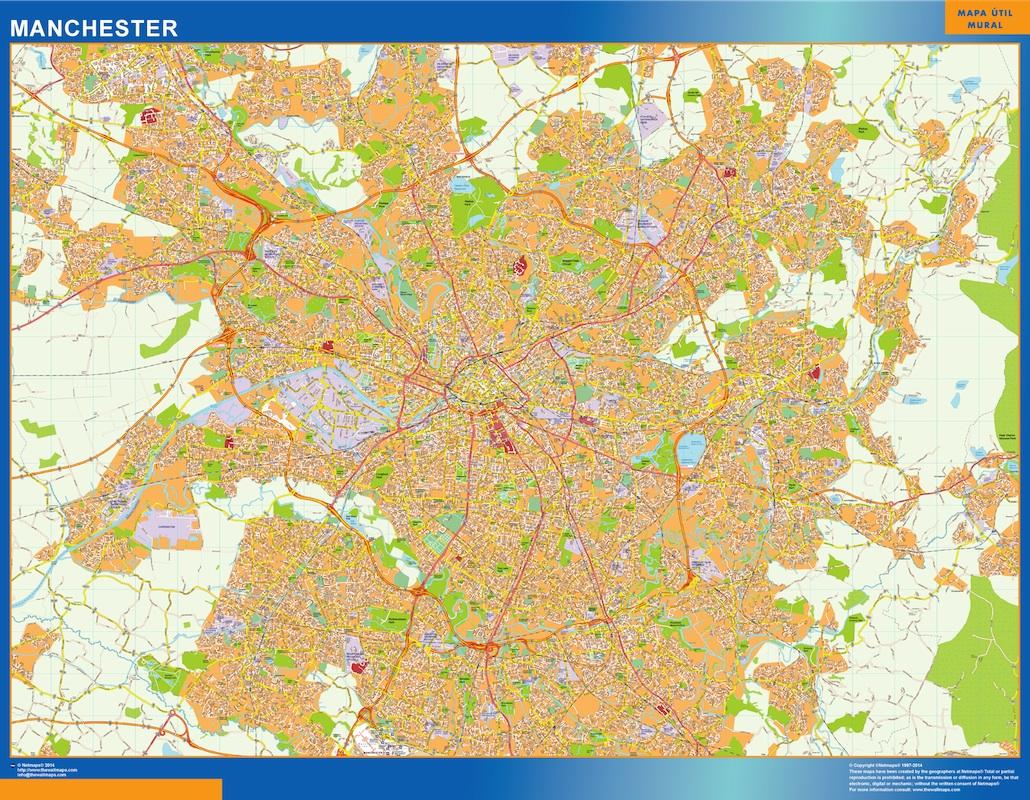 manchester street map