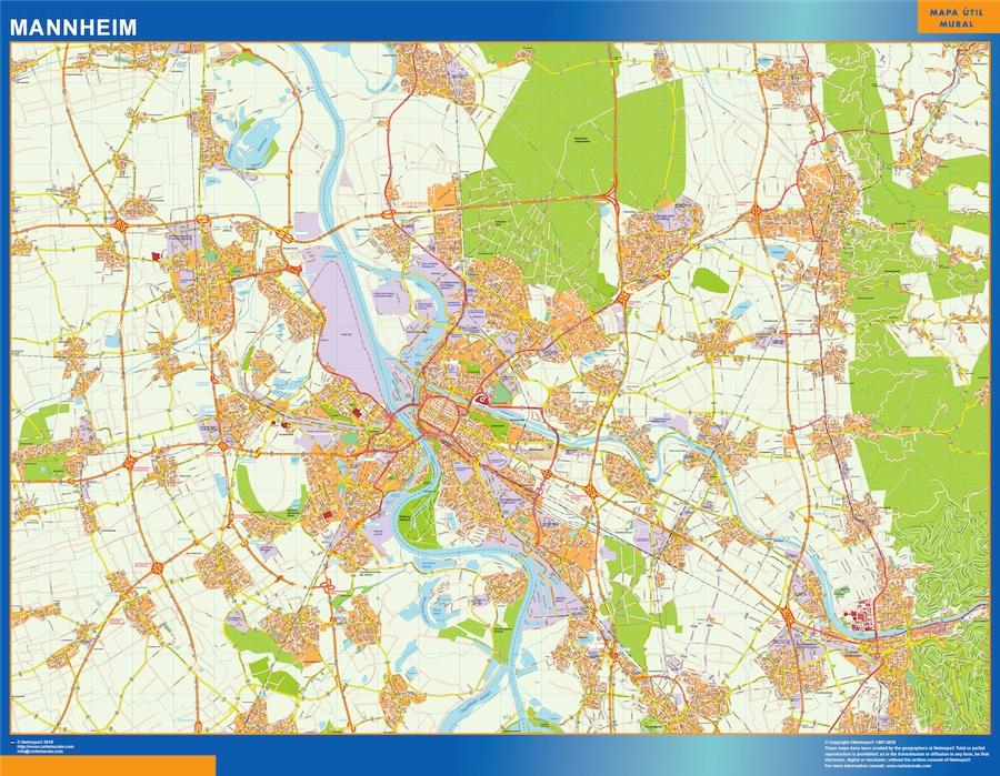mannheim street map