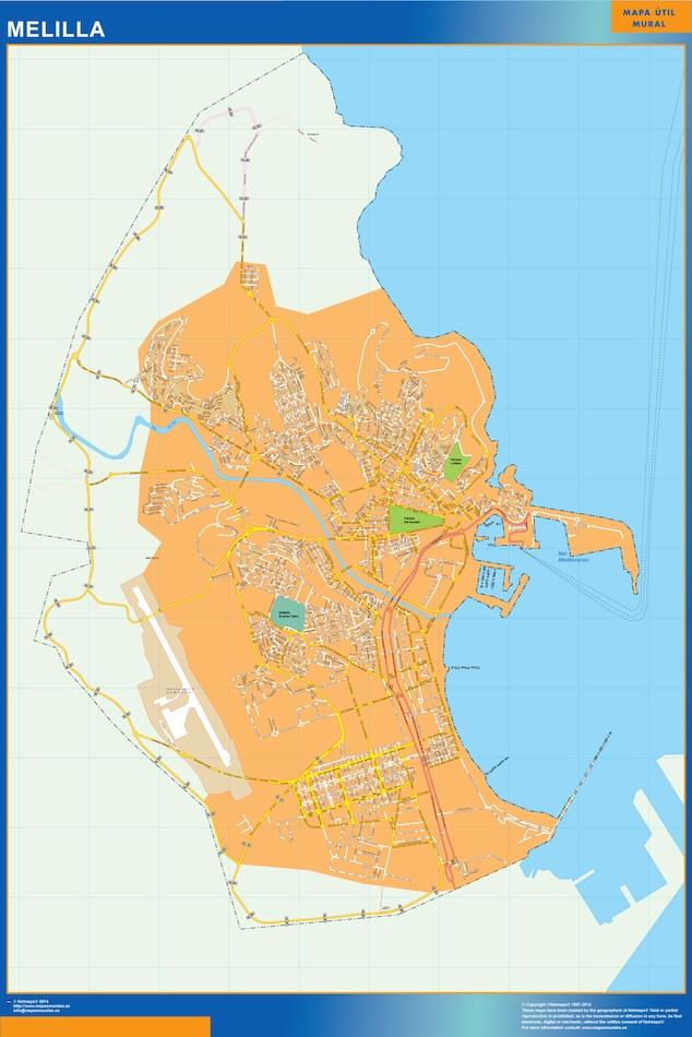 melilla street map