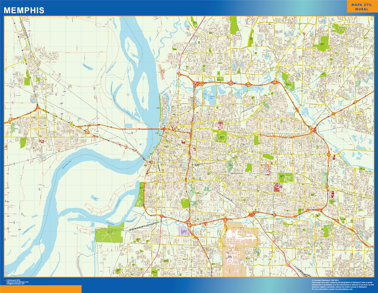 memphis street map