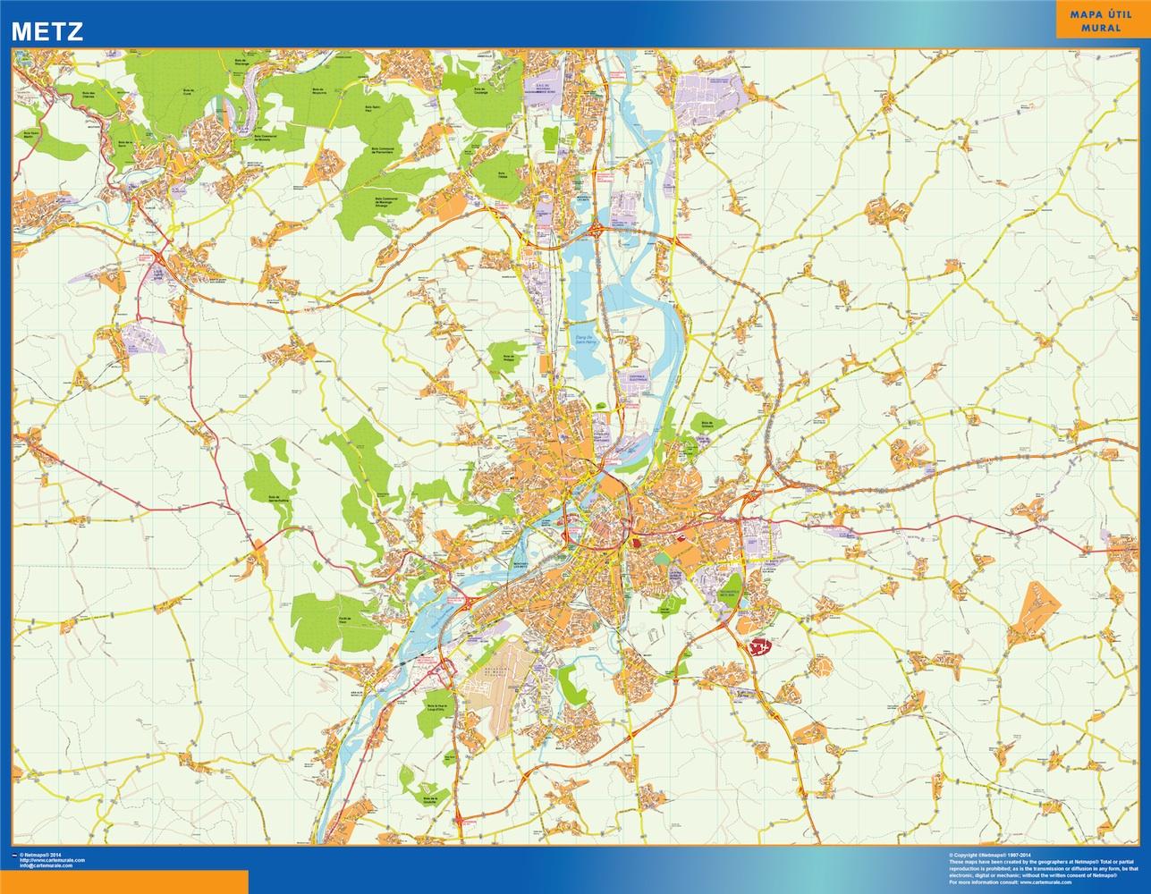 metz street map