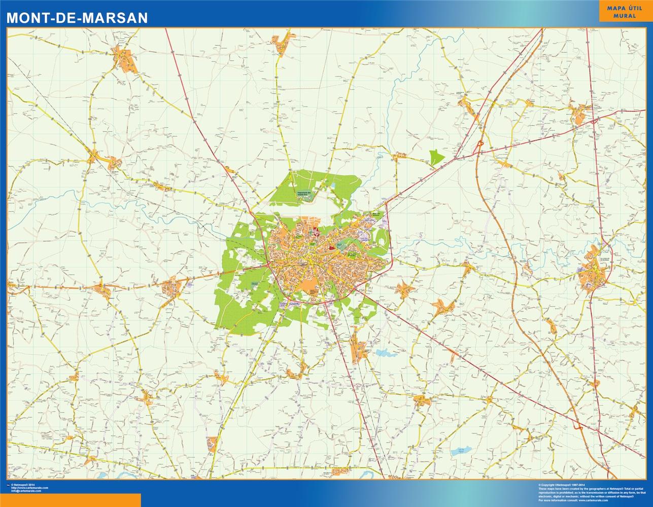 mont-de-marsan street map